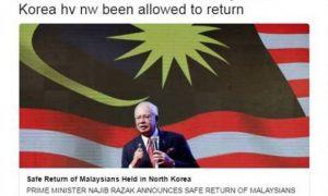 Rakyat Malaysia Di Korea Utara Selamat Kembali